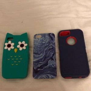 3 iPhone cases. iPhone 5s and 4s MAKE OFFERS